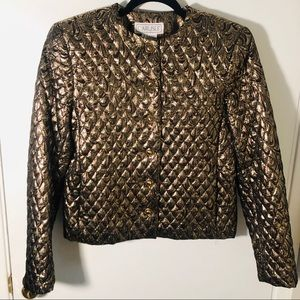 VINTAGE- Metallic Quilted Jacket, size 6